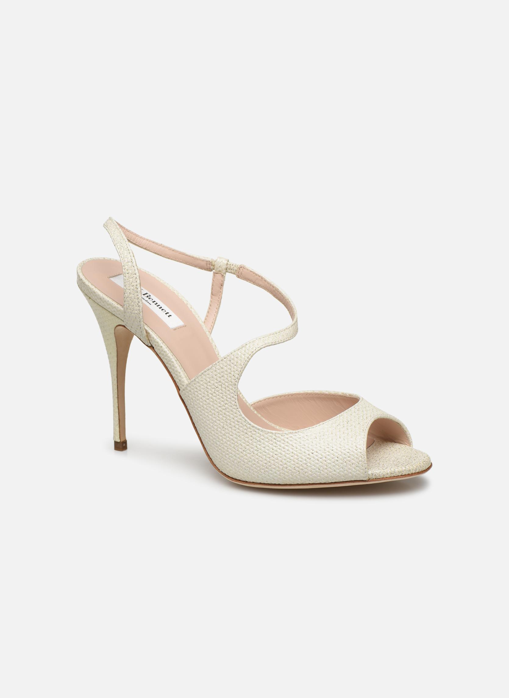 Sandales et nu-pieds L.K. Bennett Palma Or et bronze vue détail/paire