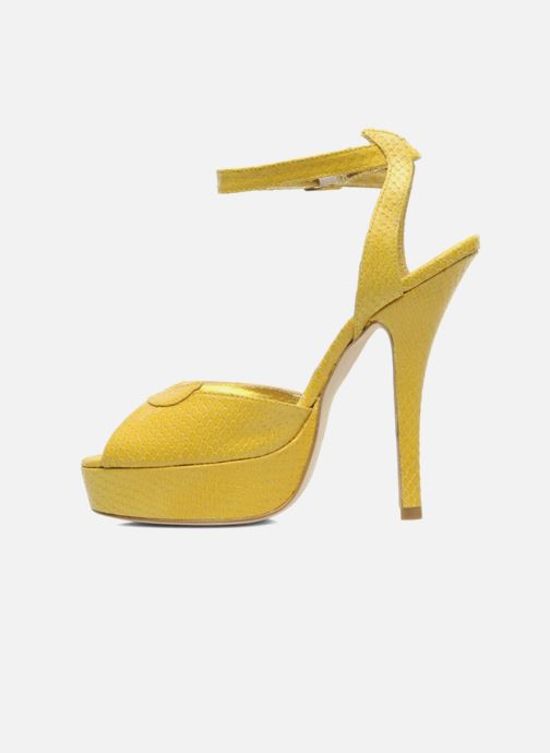Sandals Terry de Havilland MARGUERITE Yellow front view