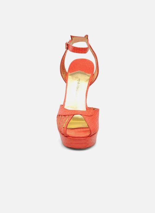 Sandalias Terry de Havilland MARGUERITE Naranja vista del modelo