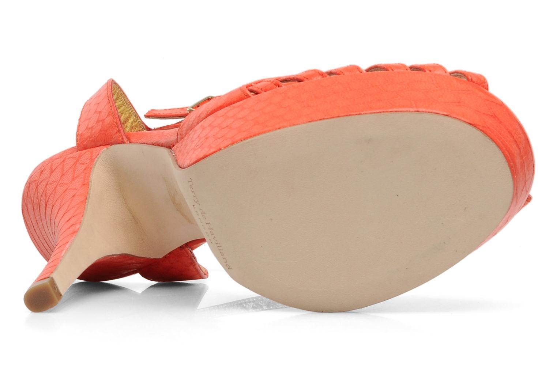 Sandales et nu-pieds Terry de Havilland MARGUERITE Orange vue haut