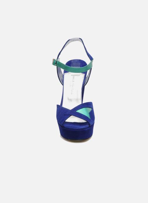Sandalias Terry de Havilland MAREVNA Azul vista del modelo