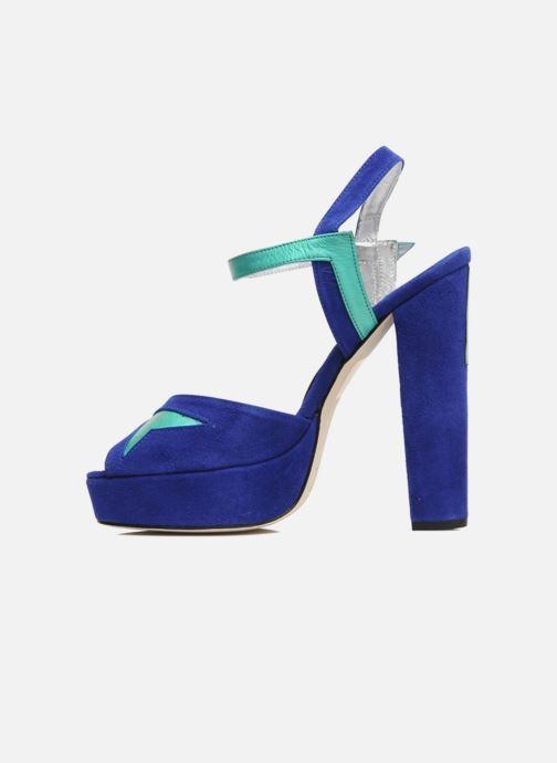 Sandalias Terry de Havilland MAREVNA Azul vista de frente