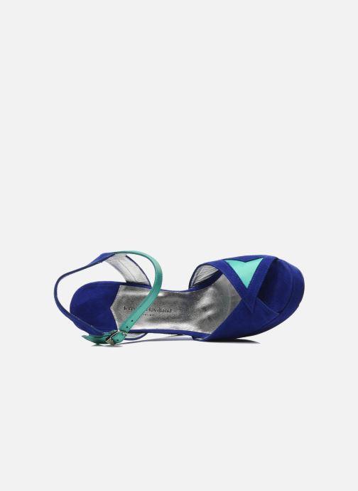 Sandalias Terry de Havilland MAREVNA Azul vista lateral izquierda