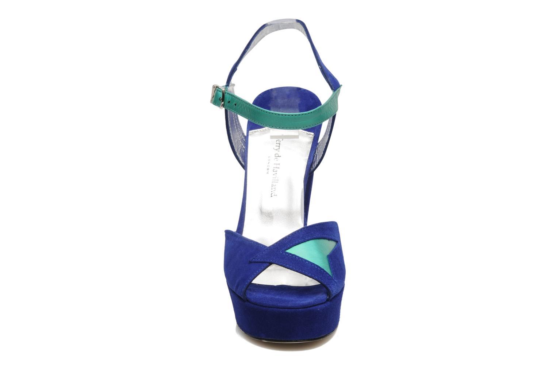Sandales et nu-pieds Terry de Havilland MAREVNA Bleu vue portées chaussures