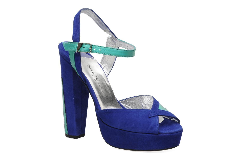 Sandales et nu-pieds Terry de Havilland MAREVNA Bleu vue détail/paire