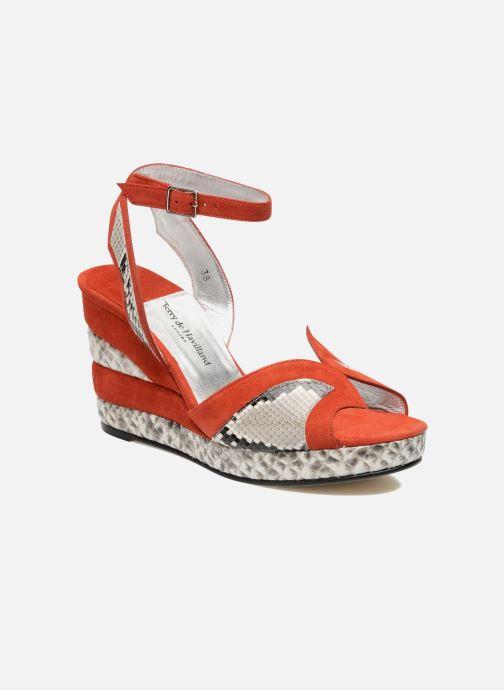 Sandales et nu-pieds Terry de Havilland SIMA 4 TIER Rouge vue détail/paire