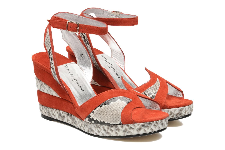 Sandales et nu-pieds Terry de Havilland SIMA 4 TIER Rouge vue 3/4