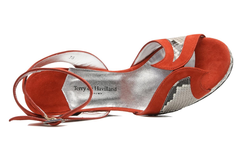Sandales et nu-pieds Terry de Havilland SIMA 4 TIER Rouge vue gauche