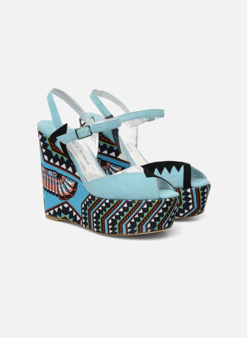 Sandalias Terry de Havilland TOTEM Azul vista 3/4