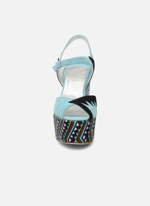 Sandales et nu-pieds Terry de Havilland TOTEM Bleu vue portées chaussures