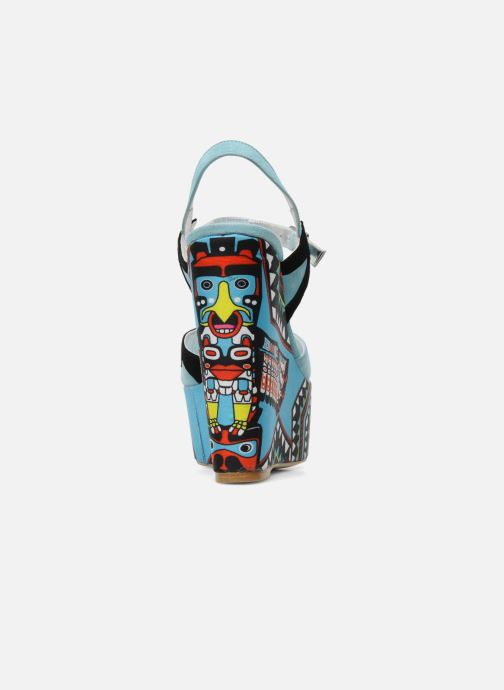 Sandals Terry de Havilland TOTEM Blue view from the right