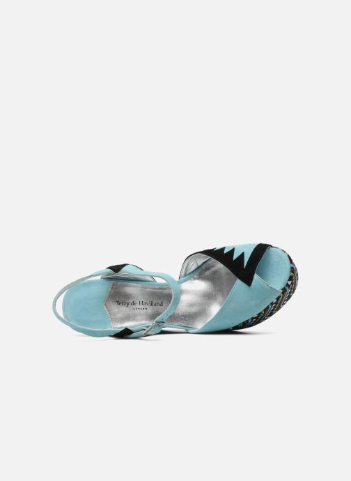 Sandals Terry de Havilland TOTEM Blue view from the left