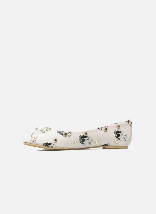 Ballerinaer Iron Fist DISTANT MEMORY PEEP TOE FLAT Beige se forfra