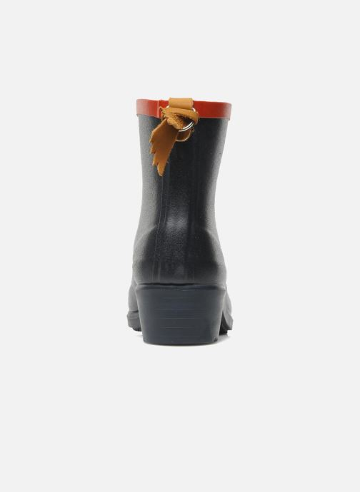 Ankle boots Aigle Miss Juliette Bottillon Blue view from the right