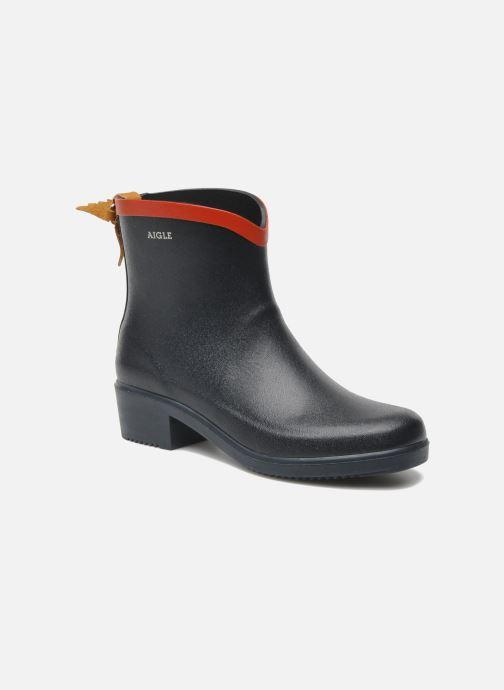 Ankle boots Aigle Miss Juliette Bottillon Blue detailed view/ Pair view