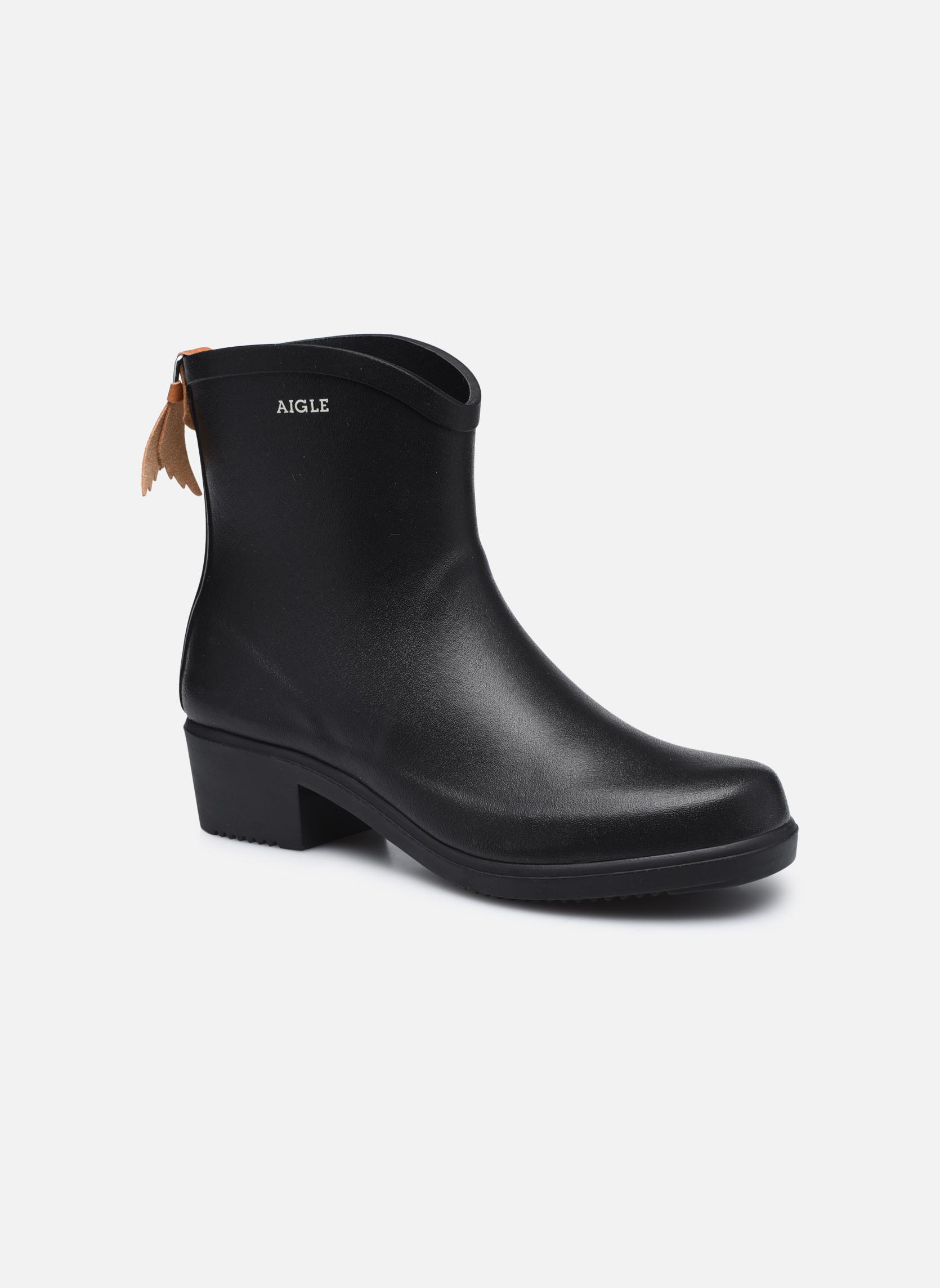 Bottines et boots Aigle Miss Juliette Bottillon Noir vue détail/paire
