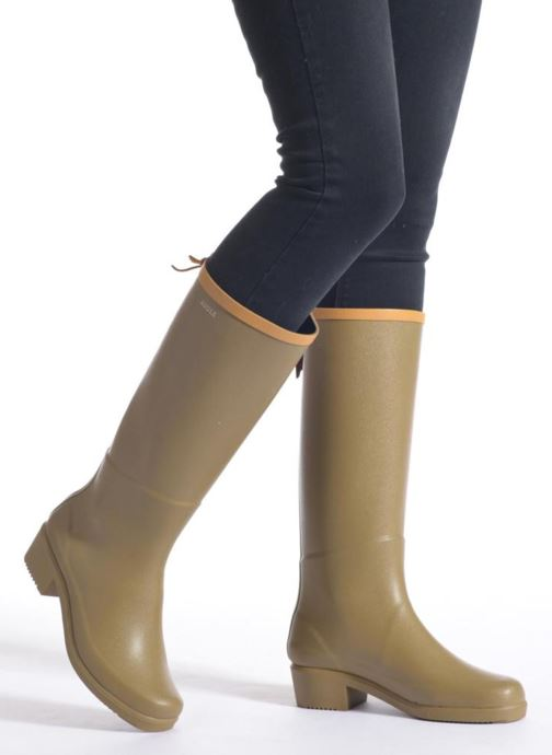 Boots & wellies Aigle Miss Juliette A Black view from underneath / model view