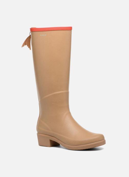 Støvler & gummistøvler Aigle Miss Juliette A Beige detaljeret billede af skoene