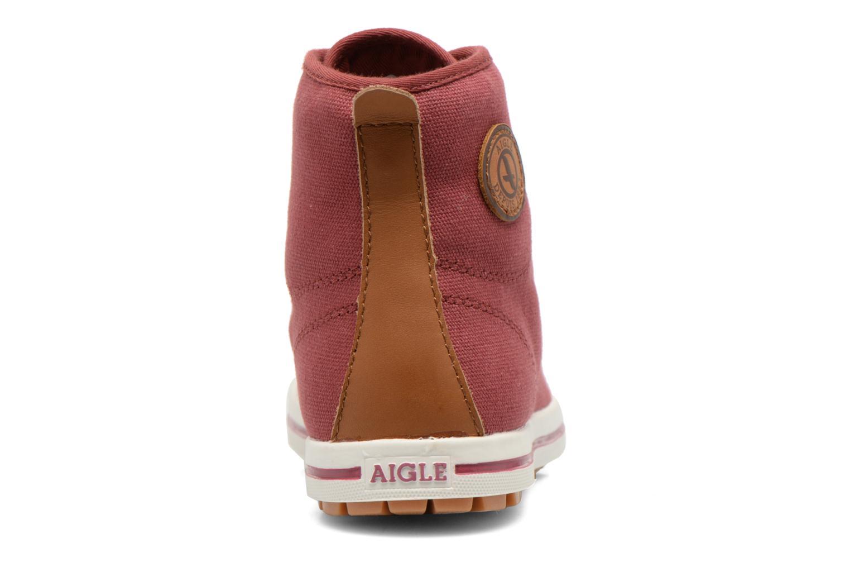 Chaussures à lacets Aigle Kitangiri Mid W Bordeaux vue droite