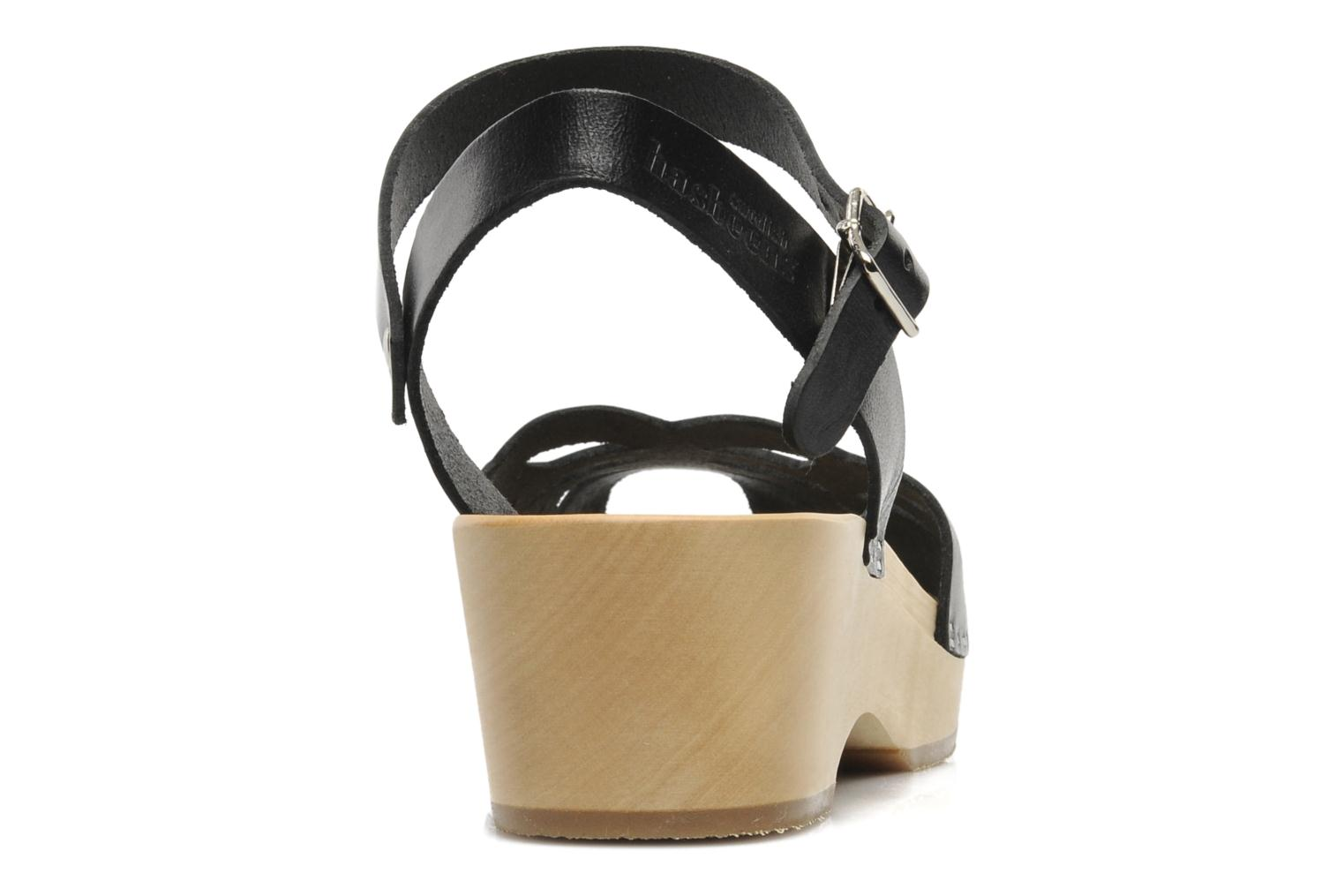 Sandals Swedish Hasbeens Ornament clog Black view from the right