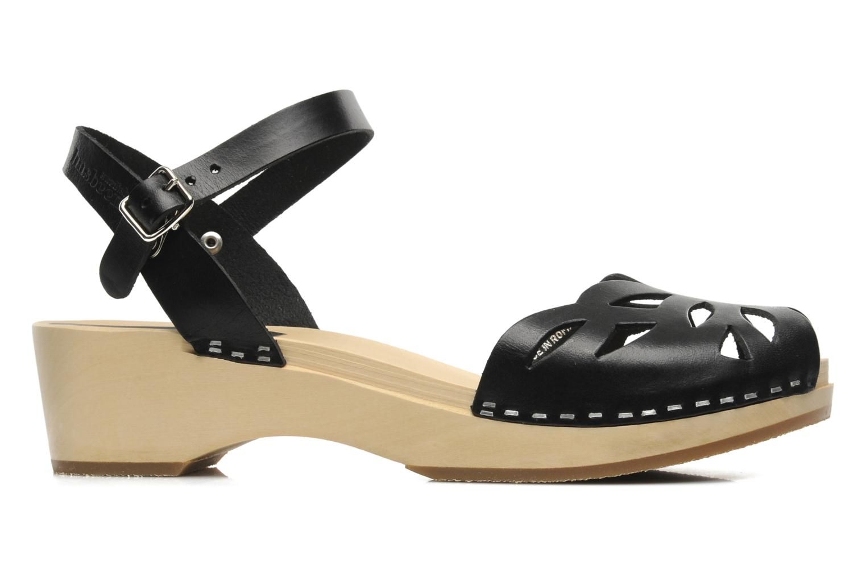 Sandals Swedish Hasbeens Ornament clog Black back view