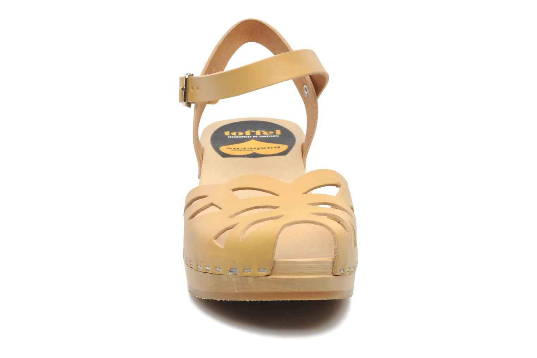 Sandals Swedish Hasbeens Ornament clog Beige model view