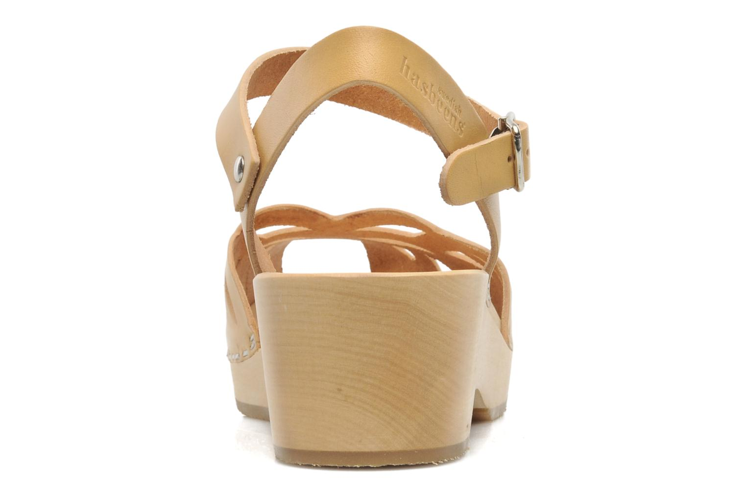 Sandals Swedish Hasbeens Ornament clog Beige view from the right