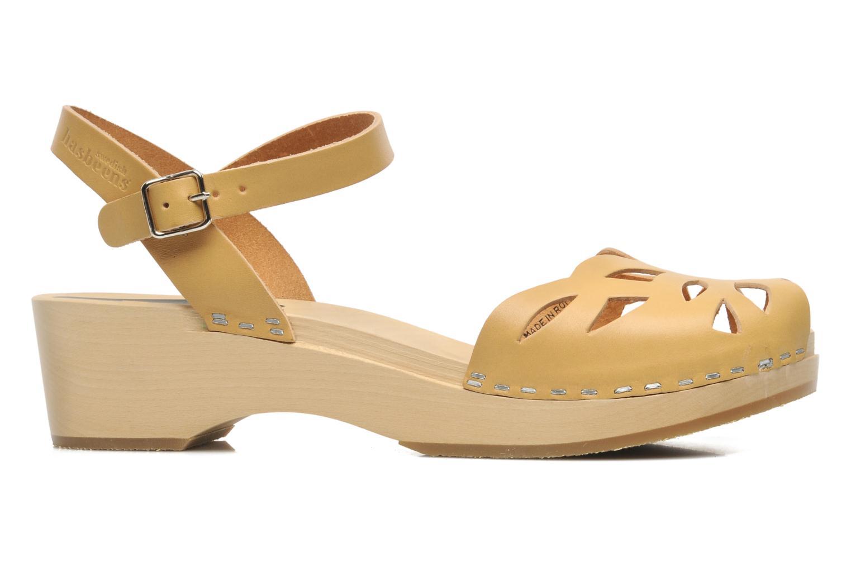 Sandals Swedish Hasbeens Ornament clog Beige back view
