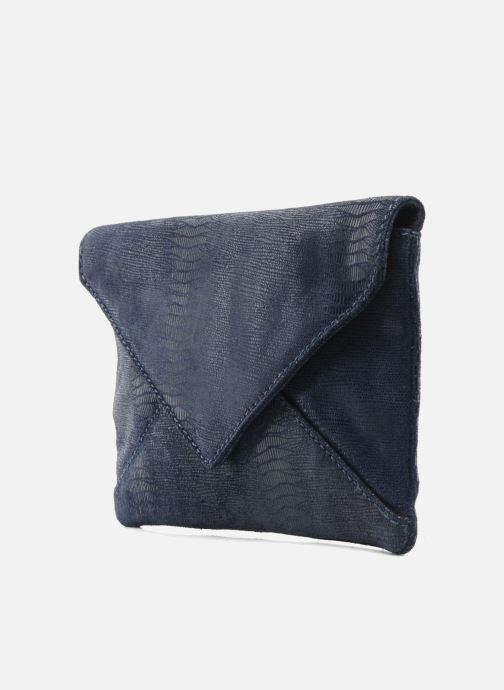 Borse Loxwood Pochette Lana Azzurro modello indossato