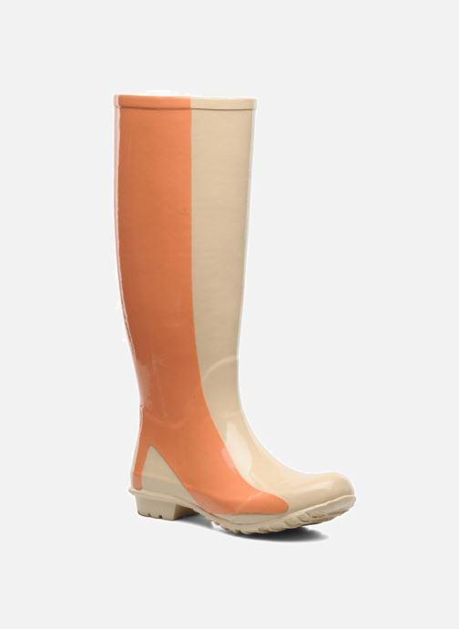 Støvler & gummistøvler Be&D Singing in the rainboots Beige detaljeret billede af skoene
