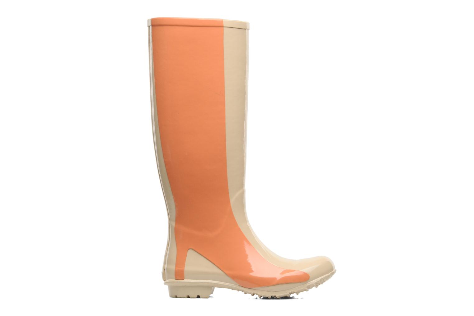 Botas Be&D Singing in the rainboots Beige vistra trasera