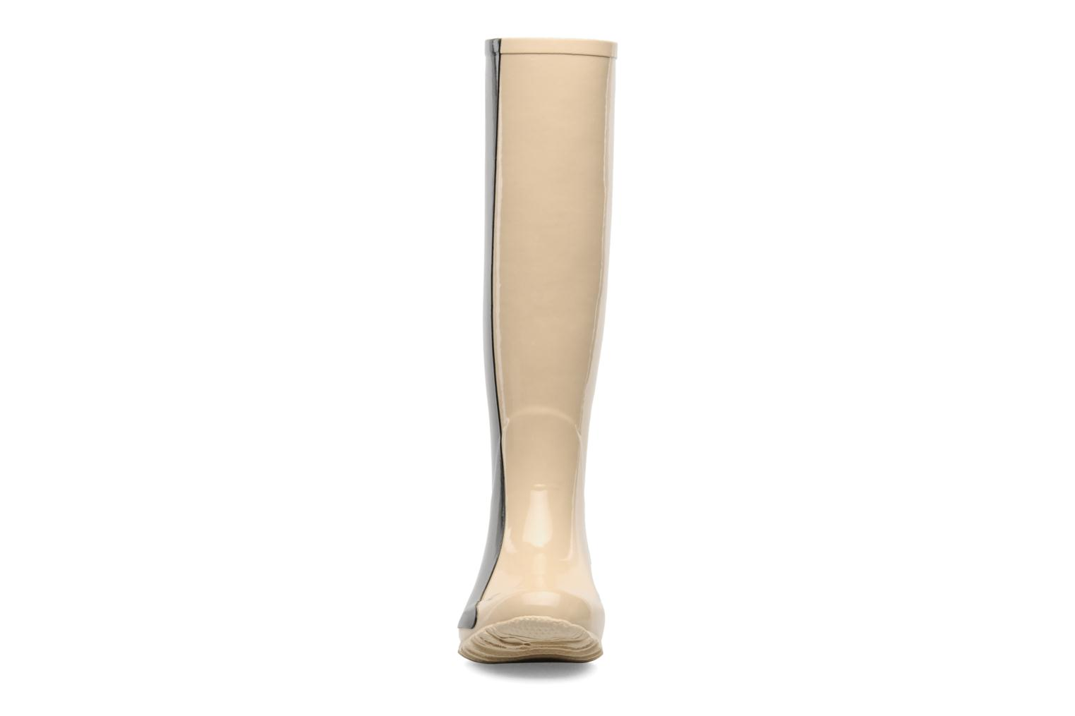 Bottes Be&D Singing in the rainboots Beige vue portées chaussures