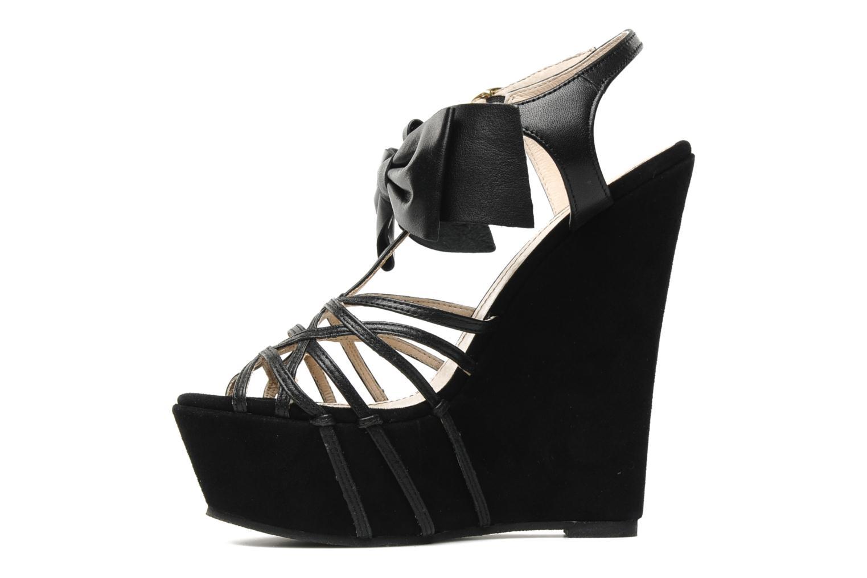 Sandales et nu-pieds Supertrash Bowstrap Noir vue face