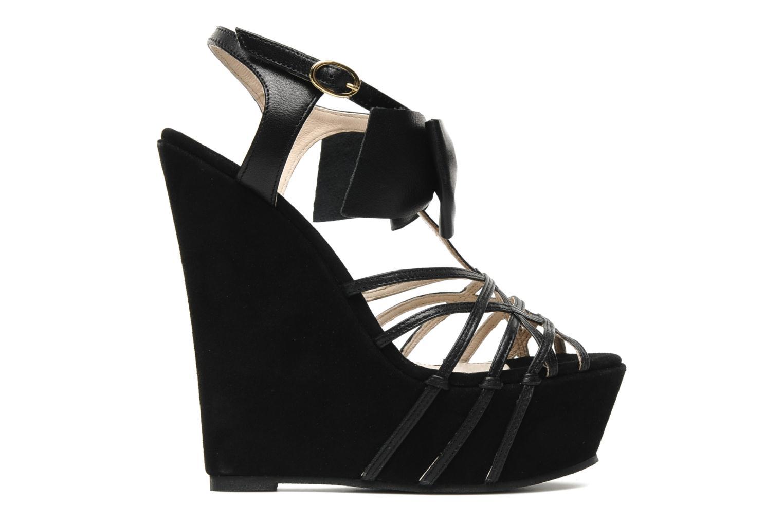 Sandales et nu-pieds Supertrash Bowstrap Noir vue derrière