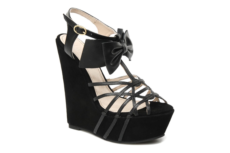 Sandales et nu-pieds Supertrash Bowstrap Noir vue détail/paire