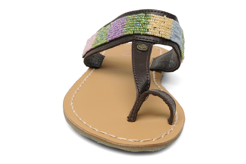Clogs & Pantoletten Roxy Mumbai braun schuhe getragen