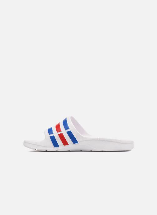 Sportschoenen adidas performance Duramo Slide Wit voorkant
