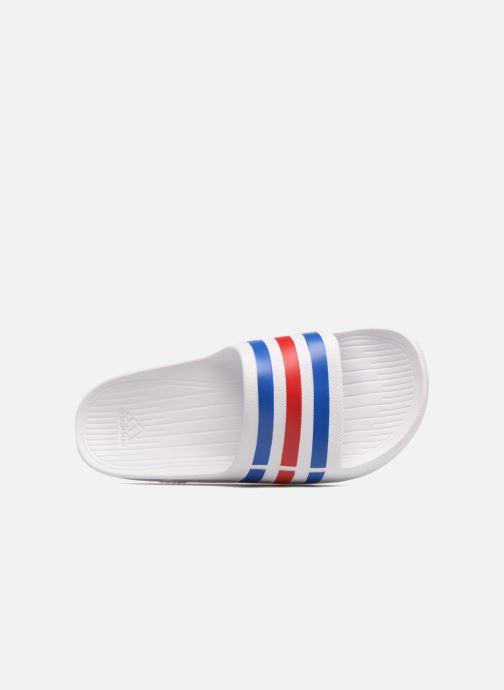 Chaussures de sport adidas performance Duramo Slide Blanc vue gauche