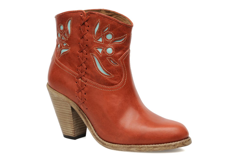 Ankelstøvler Swildens Izie Brun detaljeret billede af skoene