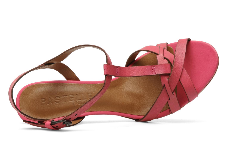 Sandales et nu-pieds Pastelle Capucine Rose vue gauche