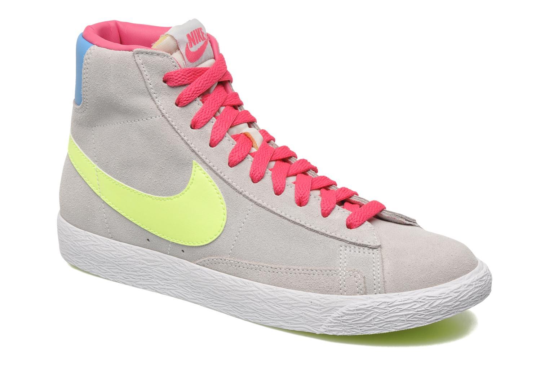 Chaussures de sport Nike Blazer Mid Vintage (GS) Gris vue détail/paire