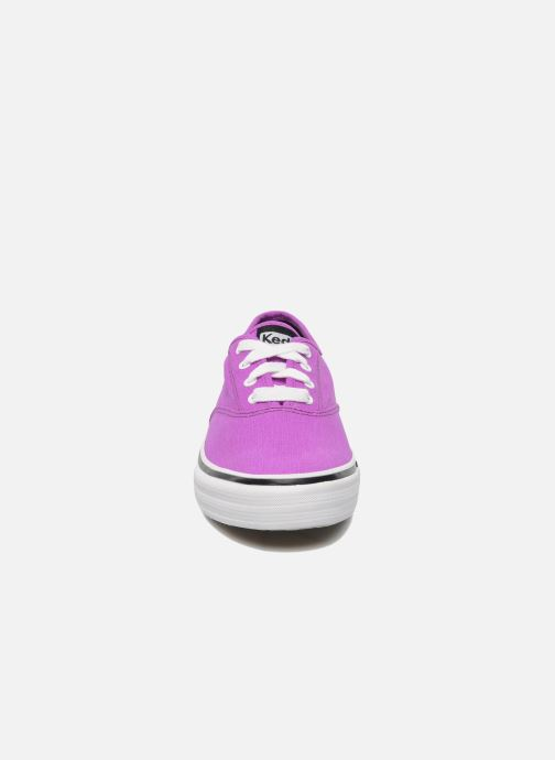 Sneaker Keds Double Dutch Neon lila schuhe getragen