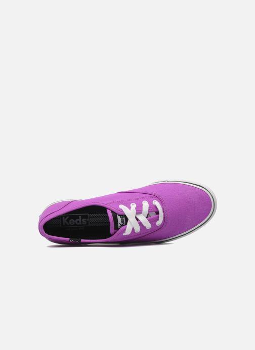Sneaker Keds Double Dutch Neon lila ansicht von links