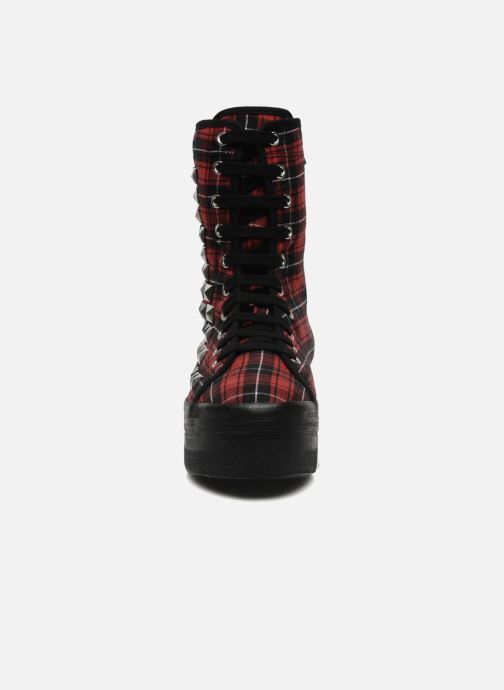 Ankle boots Jeffrey Campbell Lockness Red model view
