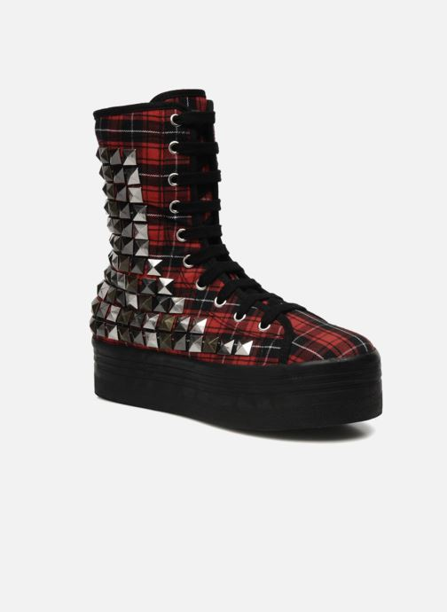 Ankle boots Jeffrey Campbell Lockness Red detailed view/ Pair view