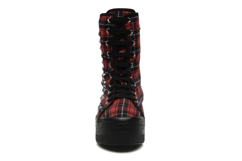 Stiefeletten & Boots Jeffrey Campbell Lockness rot schuhe getragen