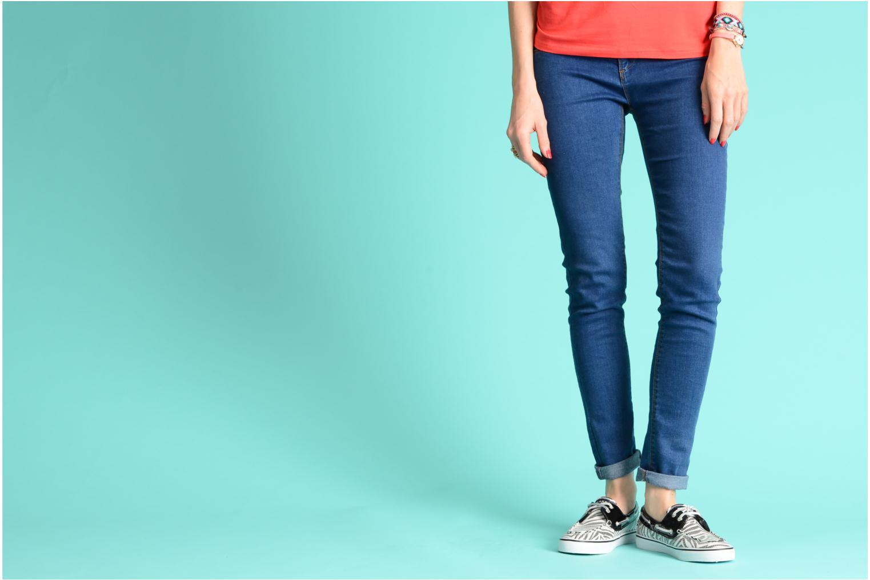 Zapatos con cordones Sperry Bahama 96886 Rosa vista de abajo