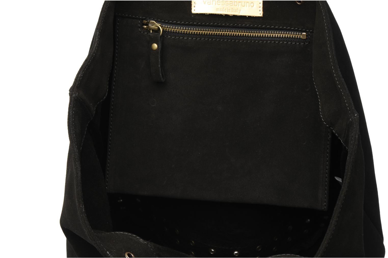 Handväskor Vanessa Bruno Cabas cuir velours œillets L Svart bild från baksidan