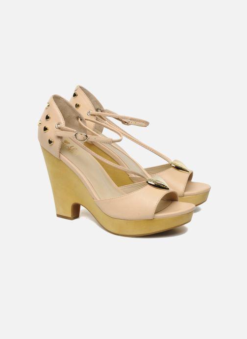 Sandales et nu-pieds Love Moschino Love Cipria Rose vue 3/4