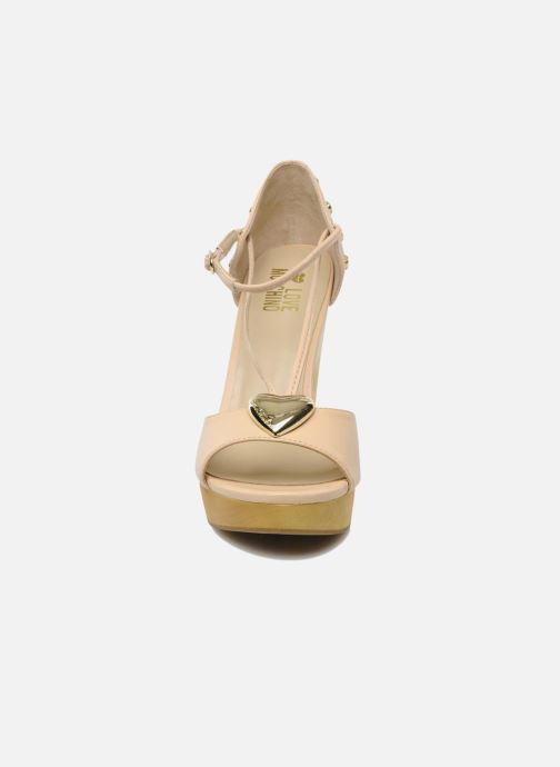 Sandales et nu-pieds Love Moschino Love Cipria Rose vue portées chaussures